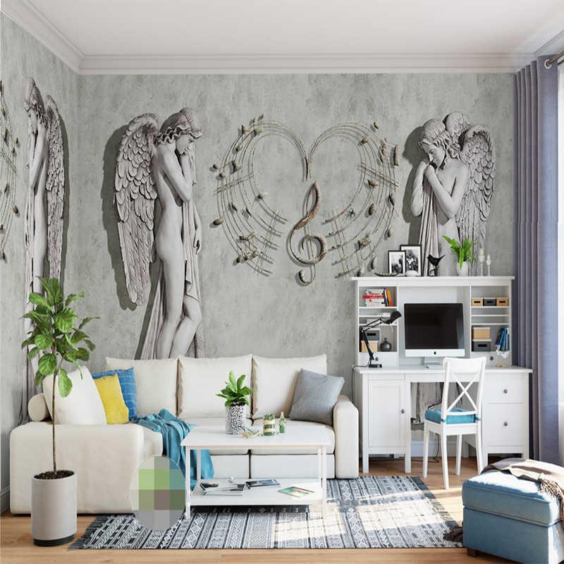 Пользовательские 3D фото обои Европейский ангел Искусство Настенная живопись покрывающий современный гостиная спальня ТВ фон Фреска Декор