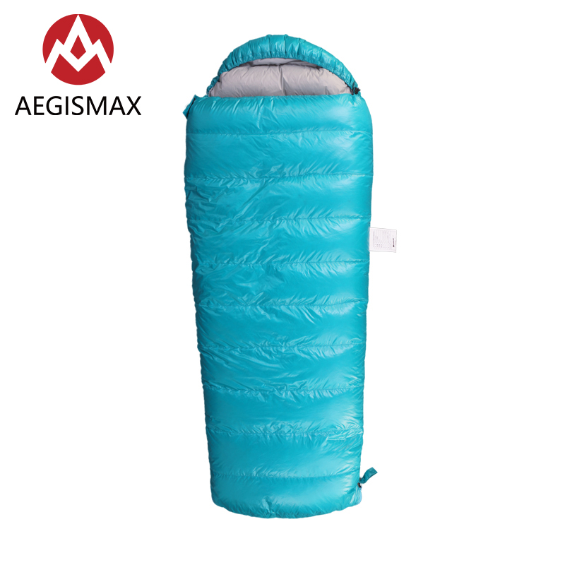 AEGISMAX Children Envelope Down Sleeping bags Filling 95% White Goose Down for Kids Outdoor Hiking Camping Spring Autumn Winter цены