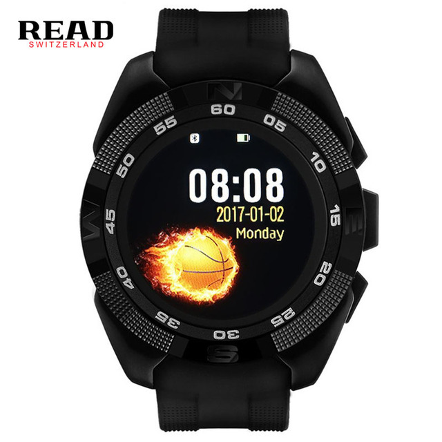 READ X4 Smart watch Heart Rate Monitor Pedometer Stopwatch ultrathin Bluetooth sport watches for men Dial Call black / rose gold