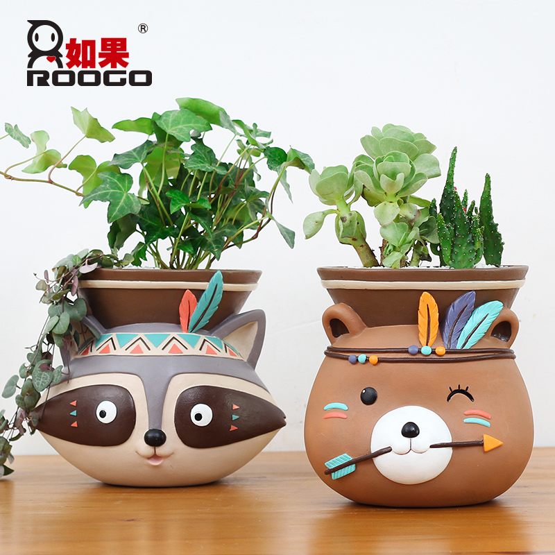 Image 5 - Roogo Wall Mounted Groot Flower Pot Modern Annimal Plant Pot Garden Hanging Pots Home Decor Balcony Decorations Pots Planter-in Flower Pots & Planters from Home & Garden