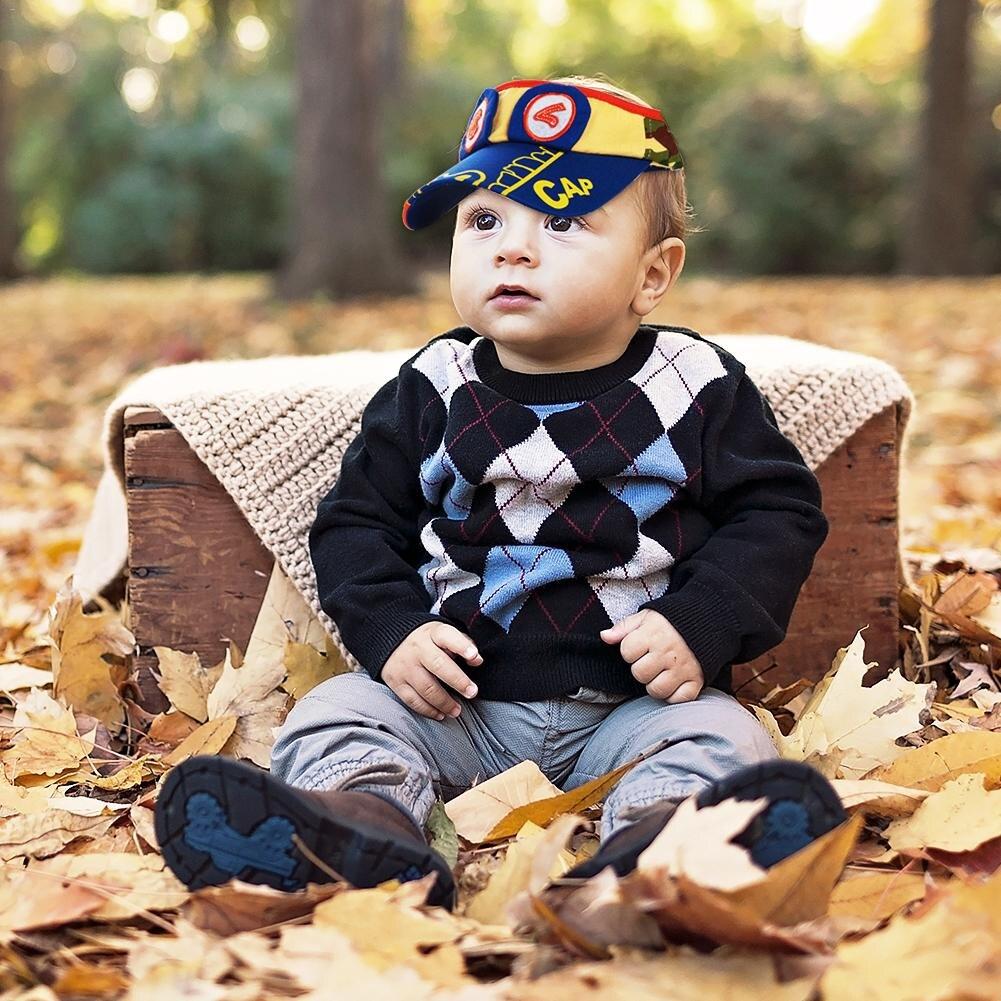 2018 The New Children's Breathable Visor Hat Cartoon Baby Alligator Pattern Mesh Baseball Cap Sunhats Children Outdoor Visor