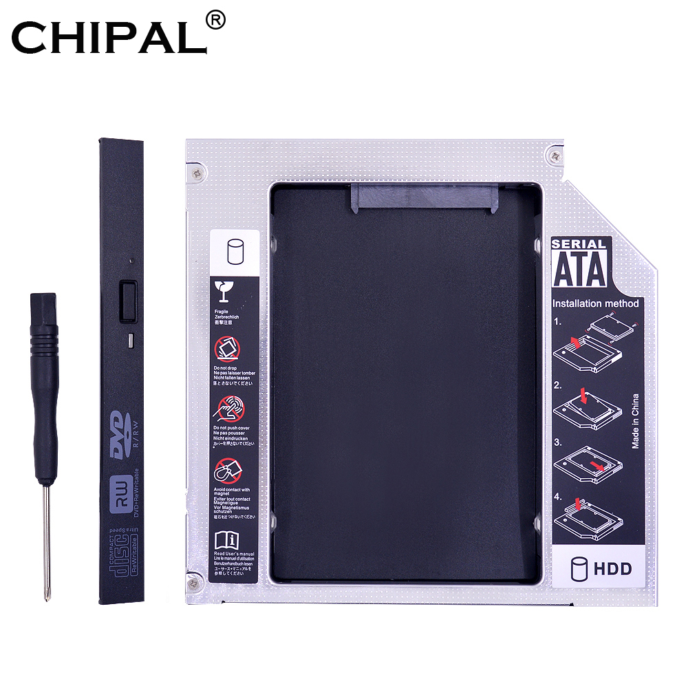 CHIPAL Caddy Hard-Disk-Drive-Enclosure Ssd Case Notebook Sata-3.0 DVD-ROM 2nd-Hdd PATA