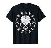 DEATH METAL T-SHIRT, HEAVY METAL SHIRT Design T Shirt Men'S High Quality Sleeves Cotton T-Shirt Fashion Top Tee Plus Size plus size pockets design leopard t shirt