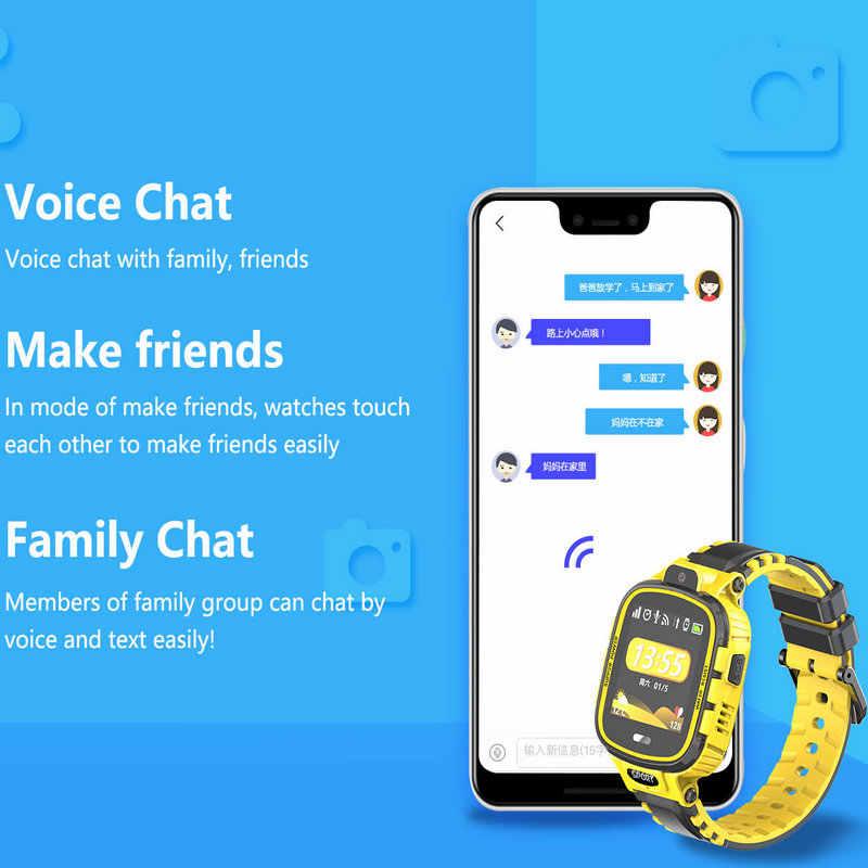 GPS Smart Watch Kids Camera IP67 Waterproof Wifi Tracker Phone Smartwatch Children SOS Monitor Positioning Watch 500mAh Battery
