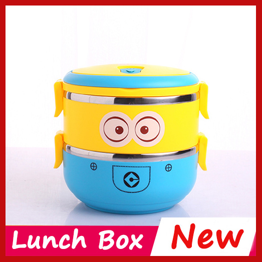 high quality minions kawaii bento lunch box for kids lunchbox food container thermos bento box. Black Bedroom Furniture Sets. Home Design Ideas