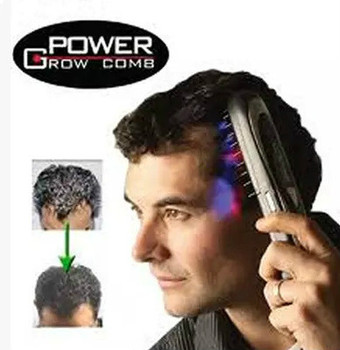 Electric Laser Treatment Power Grow Comb Kit Stop Hair Loss Hot Regrow Therapy New Sale Massage Comb Hair Growth Care Styling joelheira magnética alívio