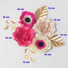 Buy crepe paper flowers and get free shipping on aliexpress 2018 giant crepe paper flowers artificial flores artificiale 4pcs 4 leaves for wedding event backdrop mightylinksfo