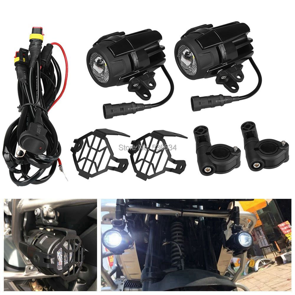 40w Auxiliary Passing Protect Guards With Wiring Harness Led Lamp Spotlights For Bmw Motorcycle Lights Additional