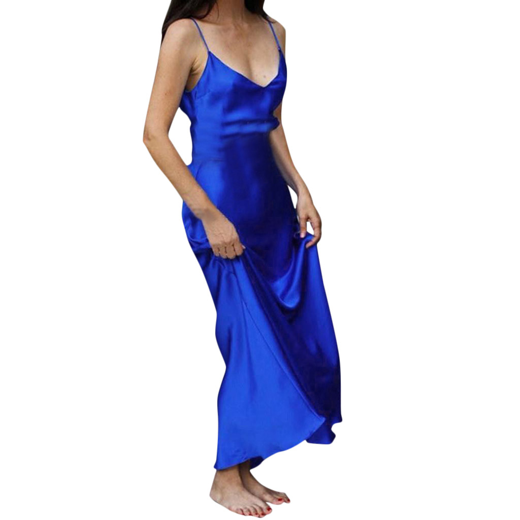 Sleeveless Sling Sexy Split Long Casual V-neck Long Dress Summer Nightclub Party Open Back Off The Shoulder Maxi Dress Plus Size