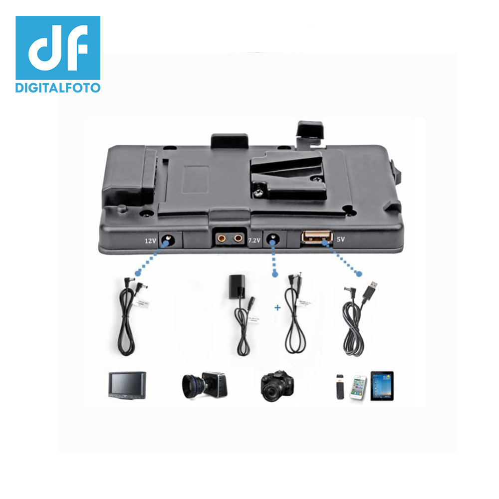 DF DIGITALFOTO BMCC 5DII V mount V lock for BP camera battery adapter pinch Power Supply System 5D mark II/7D DSLR наушники uproar striped navy red