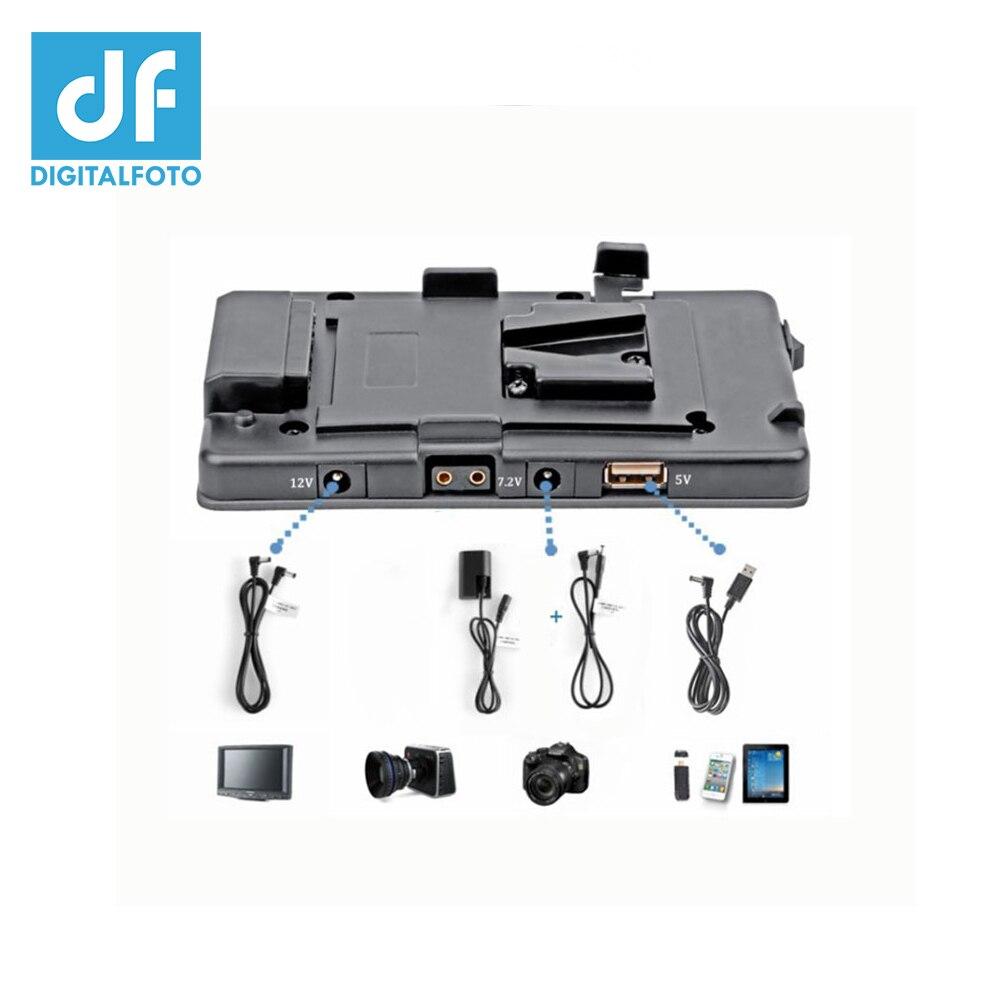 DF DIGITALFOTO BMCC 5DII V mount V lock for BP camera battery adapter pinch Power Supply System 5D mark II/7D DSLR|Photo Studio Accessories|Consumer Electronics - title=