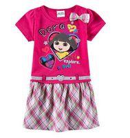 Kid dresses cho trẻ em cô gái dora hoa hồng đỏ đứa trẻ mặc, bé dresses up cho trẻ em gái, vestidos infantis de sinh nhật quần áo