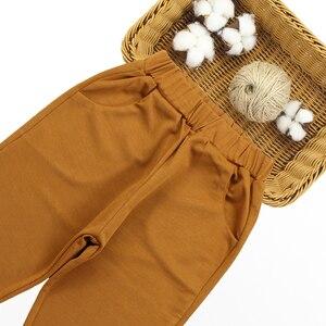 Image 5 - Conjunto de ropa para niña, chaleco + Camisa lisa + Pantalones, ropa escolar para niña, conjunto de 6, 8, 10, 12, 13 y 14 años, 3 uds.