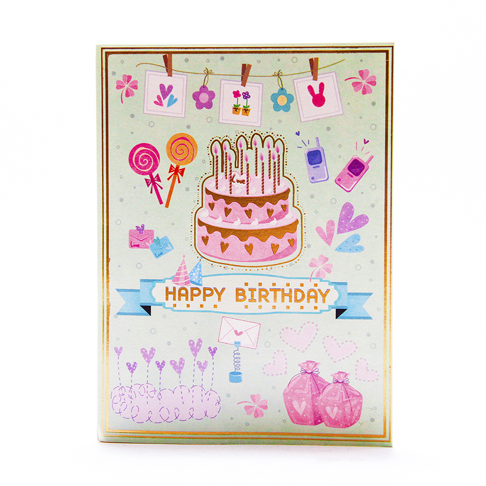 3d Pop Up Birthday Cake Greeting Card Party Cake Card Laser Cutting