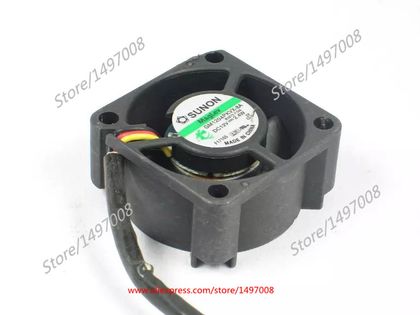 Free Shipping For  SUNON GM1204PKVX-8A B2875.F.GN  DC 12V 2.4W 3-wire 3-pin connector 40mm 40x40x20mm Server Square cooling fan