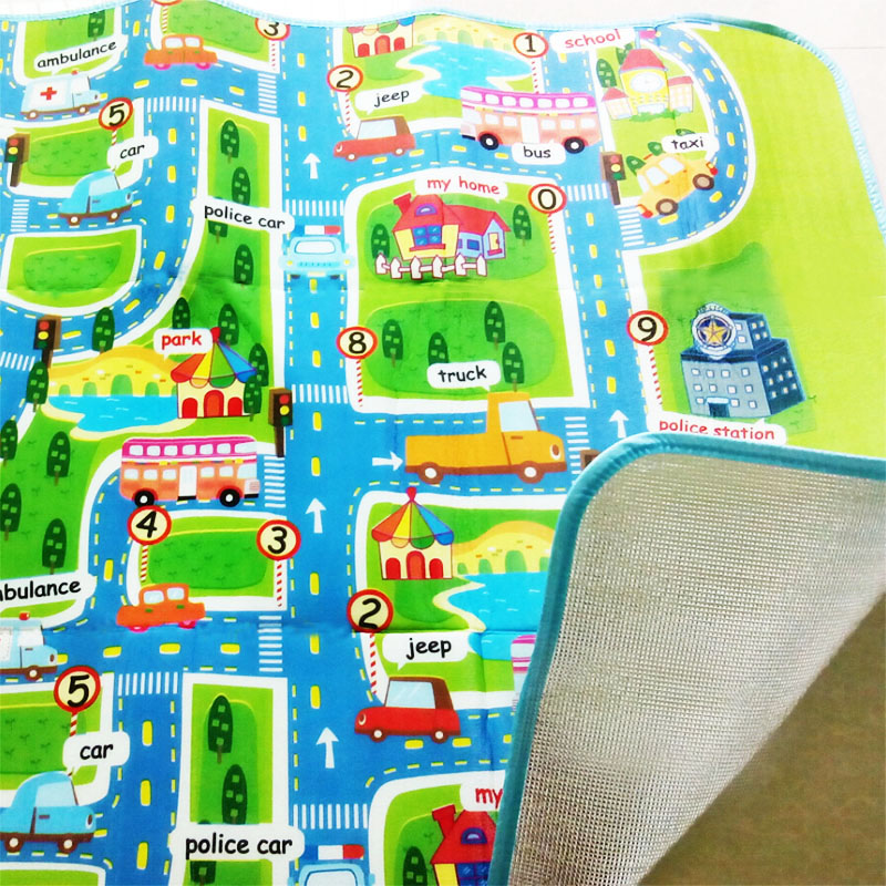 Single Side Rug Puzzle Transport 160*130*0.5cm Maze Street Game Mat Baby  Crawling Eva Foam Play Mat Baby Toys Kids Floor Carpet In Play Mats From  Toys ...