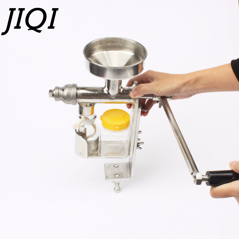Manual Oil press machine hand oil presser expeller Extractor peanut seed oil extraction machine maker food grade stainless steel 110 240v commercial small oil press machine peanut sesame cold press oil machine high oil extraction rate cheap price