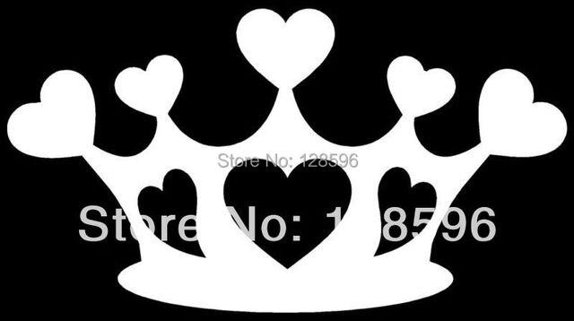 Corazones Corona Etiqueta Amor Princesa Reina Coche Ventana
