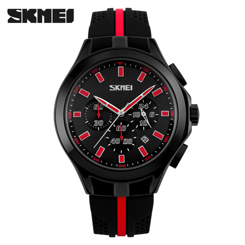 SKMEI Mens Watches Top Brand Luxury Male Quartz Watch Fashion Chronograph Sport Watch Silicone Strap Clock Men Relogio Masculino Islamabad
