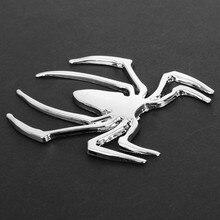 Autocollant araignée en métal 3D, autocollant Standard de réaménagement Automobile, autocollant araignée en métal solide, emblème araignée en métal, décor de décalcomanie