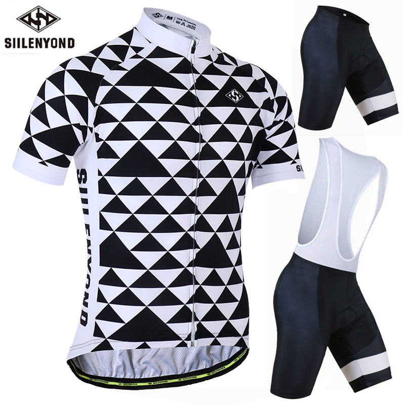 SIILENYOND 2018 Pro Cycling Clothing Jersey Sets Mountain Bicycle Clothes Cycling Jersey Sportwears Men Outdoor Ropa Ciclista
