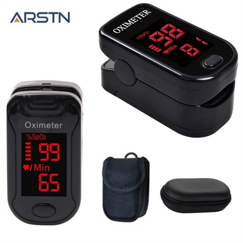 Fingertip Pulse Oximeter Household Health Monitor Home Finger Heart Rate Monitor Pulsioximetro Blood Oxygen Oximetro LED230230C(China)