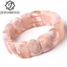 12*18mm Cherry Blossoms Bracelet Agate Bracelet Femme Ladies Gift Romantic Natural Stone Bracelets For Women Bangles Jewelry