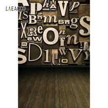 купить Laeacco Wooden Board Backdrop Letter Baby Portrait Photography Background Customized Photographic Backdrops For Photo Studio дешево