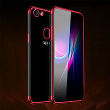Luxury Plating Soft Ultra Slim Clear TPU Case Cover For
