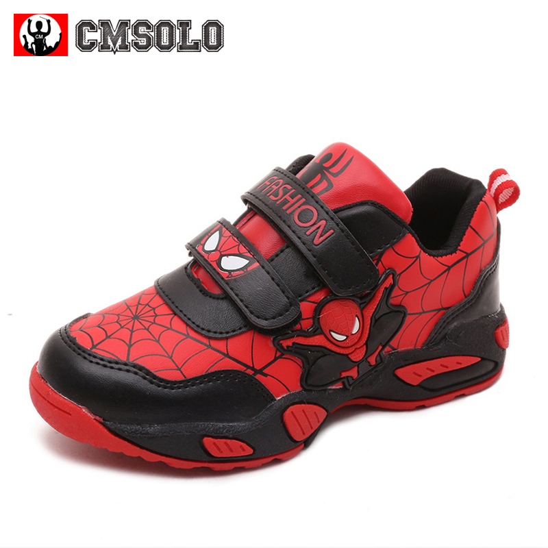 CMSOLO Shoes For Boys 2017 Kids Sneakers Breathable Child School Girl Sports Running Infant Shoes For Boys Patent Leather Autumn