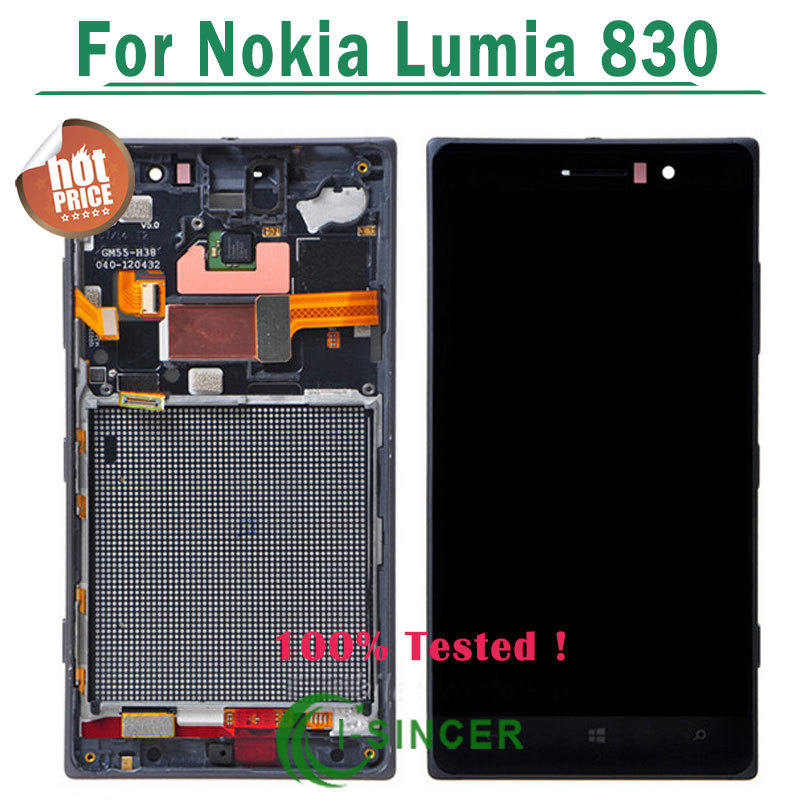 ФОТО 5/PCS Black Silver LCD screen For Nokia Lumia 830 LCD Display Screen touch Digitizer +frame Assembly Free DHL