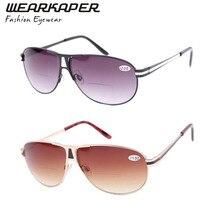 WEARKAPER Brand Aviator Mirror Sunglasses Mens Womens Gradient Bifocal Eyeglass Reading Glasses Sun Reads 1 1.5 2 2.5 3 3.5 4