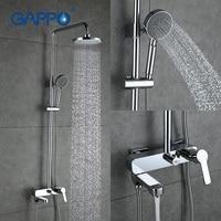 GAPPO смесители для душа набор осадков Насадки для душа Ванна Смеситель кран Tap Ванная комната для душа из нержавеющей регулируемый слайд бар,