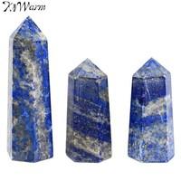 KiWarm 230g 5 7pcs Polished Natural Lapis Lazuli Stone Quartz Crystal Wand Point Healing Gemstone DIY