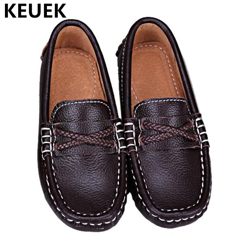 Toddler Dress Shoes | New British Style Children Loafers Baby Student Dress Shoes Toddler Casual Leather Shoes Boys Kids Black  Genuine Leather 04