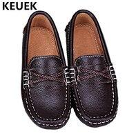 Novo estilo Britânico Crianças Mocassins Estudante Bebê Sapatos Criança sapatos Casuais Sapatos Meninos Sapatos de Couro Crianças de Couro Preto Genuíno 04