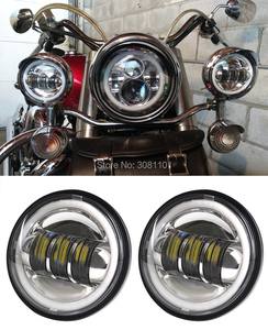 "Image 4 - 4.5 ""4 1/2"" 30 W projecteur LED brouillard passant lumière pour Harley Road King Street Glide héritage Softail Electra Glide Touring"