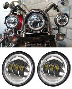 """Image 4 - 4.5 """"4 1/2"""" 30 W projektor LED mijania mgła światło do motocykla Harley Road King Street Glide Softail dziedzictwa Electra Glide touring"""