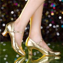 New Women Girls Ballroom Dance Shoes Latin Dance Shoes Scarpe Da Ballo Latino Black Silver Gold Closed Toe Salsa Shoes Ladies