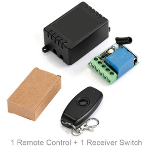 Image 5 - QIACHIP 433MHz Universal Wireless Remote Control DC 12V 1CH Relay Receiver Module RF Switch 1 Button Remote Control Gate Garage