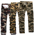 New Fashion Camouflage  Mens Cargo Pants Causal Multi-pocket Pants Men