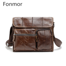 Genuine Leather Men Bag Men Briefcases Male Leather Business Computer Laptop Bags Crossbody Bag Men Messenger Bag Travel Handbag