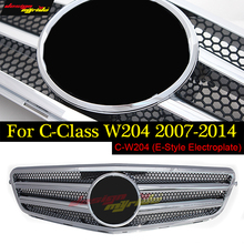 W204 grille Electroplat without centre logo for Mercedes Benz C-Class c180  c200 c250 c280 c300 c350 c350 c350e 2007-2014 C63