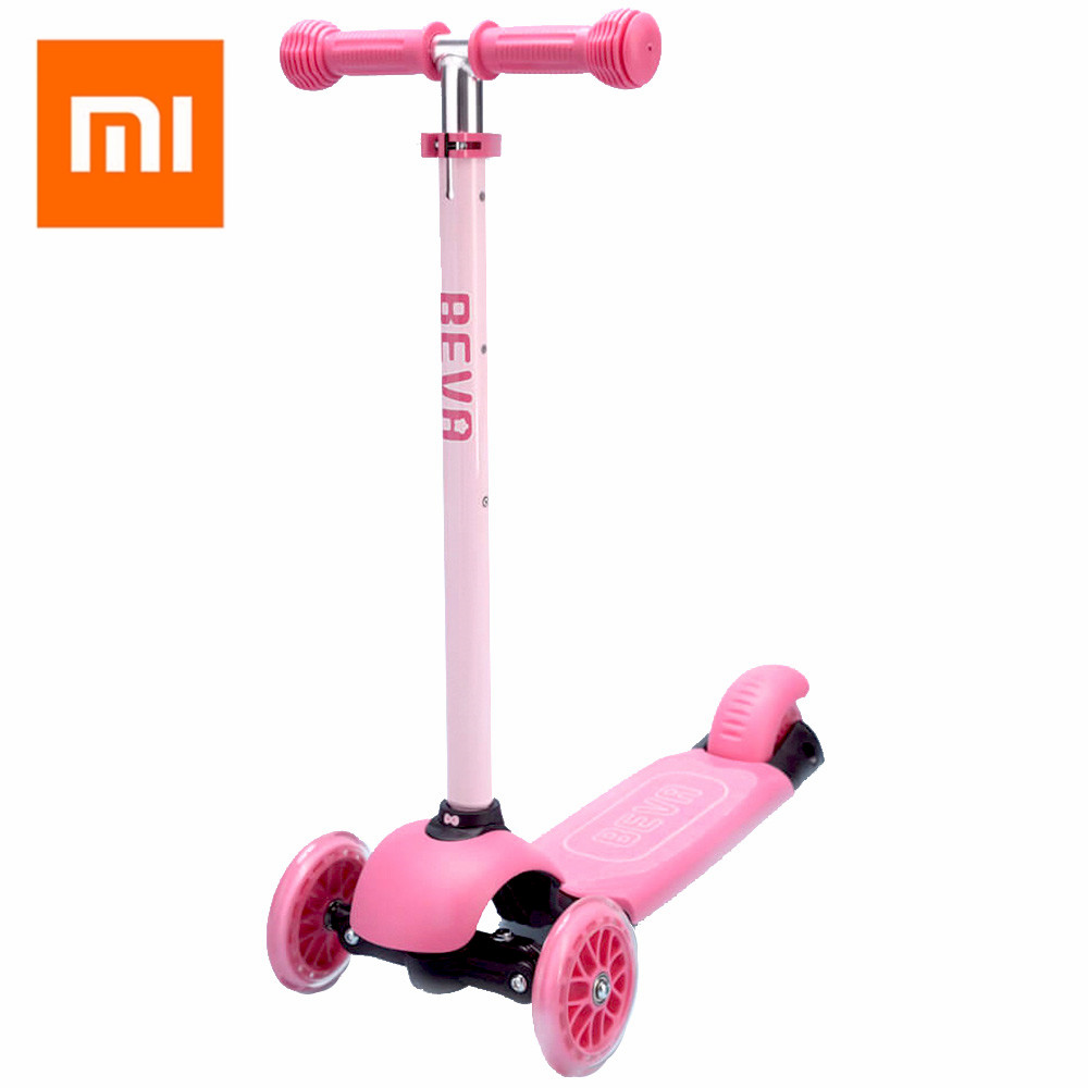 New Arrival Xiaomi Beva Scooter For 3 10 Years Old Kids Outdoor Fun Sports 3 Adjustable Heights Lightweight Electric Scooter Toy