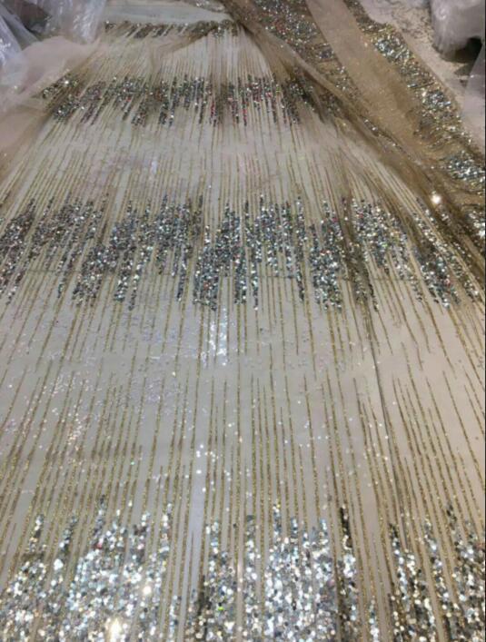 Más Sat 10.512 tul Africana tela de malla brillante pegado brillo lentejuelas encaje tela para vestido de fiesta-in encaje from Hogar y Mascotas    2