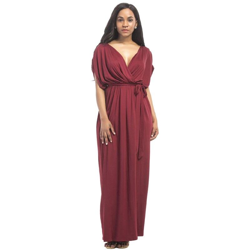 Летнее Длинное свободное платье для беременных с глубоким v-образным вырезом вечернее платье для беременных Одежда для беременных Vestidos ...