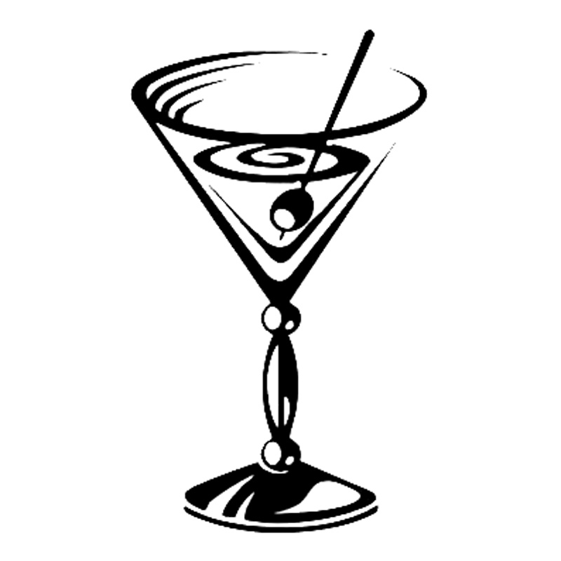 Cocktail Glass With Umbrella Clipart