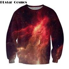 dc5253d52232f Espacio Galaxy Sudadera 2018 Otoño Nueva Capa de la manera Ocasional  Streetwear Starry sky impreso Hombres