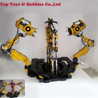 1/6 Scale Suit up Gantry Iron Man Diecast Alloy Armour Dismantling Station With light control For Iron Man MK4 Toys