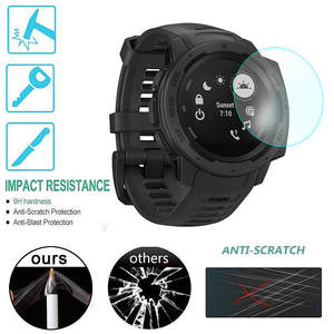 1Pc Ultra Grind Clear Transparent Pet Film Screen Protector for Garmin Instinct smartwatch wearable devices relogio inteligente